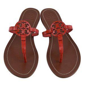NIB Tory Burch GABRIEL Leather Flat Thong Sandals